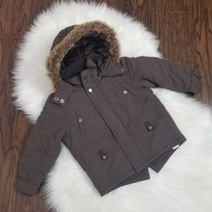 George   Size 4 Brown Puffer Jacket Faux F…